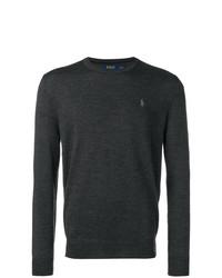Мужской темно-серый свитер с круглым вырезом от Polo Ralph Lauren