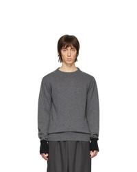 Мужской темно-серый свитер с круглым вырезом от Random Identities