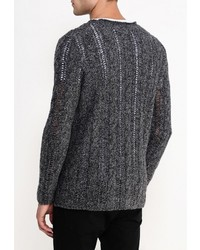 Мужской темно-серый свитер с круглым вырезом от River Island