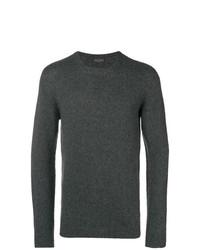 Мужской темно-серый свитер с круглым вырезом от Roberto Collina