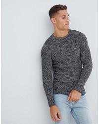 Мужской темно-серый свитер с круглым вырезом от Selected Homme