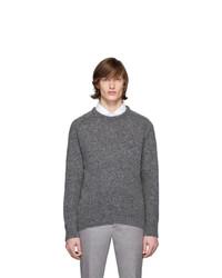 Мужской темно-серый свитер с круглым вырезом от Thom Browne
