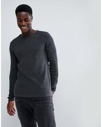 Мужской темно-серый свитер с круглым вырезом от troy