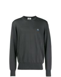 Мужской темно-серый свитер с круглым вырезом от Vivienne Westwood