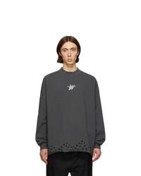 Мужской темно-серый свитер с круглым вырезом от We11done
