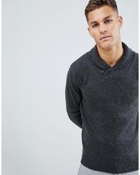 Темно-серый свитер с отложным воротником от French Connection