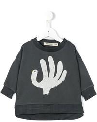 Темно-серый свитер с принтом