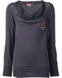 Женский темно-серый свитер с хомутом от Vivienne Westwood