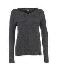 Женский темно-серый свитер с v-образным вырезом от Broadway