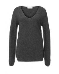 Женский темно-серый свитер с v-образным вырезом от Delicate Love