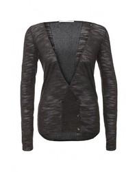 Женский темно-серый свитер с v-образным вырезом от Gas