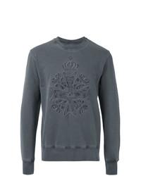Мужской темно-серый свитшот с вышивкой от Vivienne Westwood MAN
