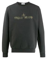 Мужской темно-серый свитшот с принтом от Stone Island