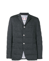 Темно-серый стеганый пиджак
