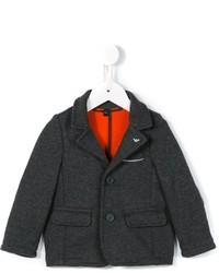 Детский темно-серый хлопковый вязаный пиджак для мальчику от Armani Junior