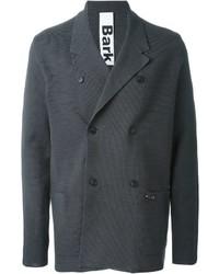 Мужской темно-серый хлопковый двубортный пиджак от Bark