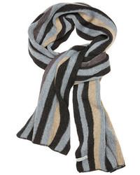 Темно-серый шарф в вертикальную полоску