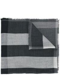 Женский темно-серый шарф в клетку от Burberry
