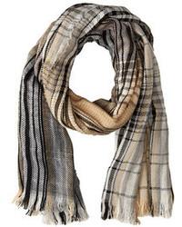 Темно-серый шарф в шотландскую клетку