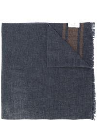 Мужской темно-серый шарф с принтом от Brunello Cucinelli
