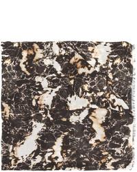 Мужской темно-серый шарф от Balmain