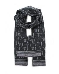 Мужской темно-серый шарф от Trussardi Jeans