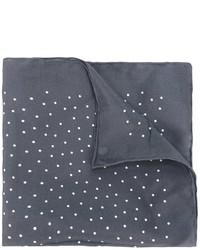 Мужской темно-серый шелковый нагрудный платок в горошек от Lanvin