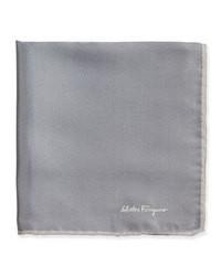 Темно-серый шелковый нагрудный платок