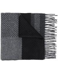 Мужской темно-серый шелковый шарф с принтом от Canali