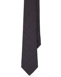 Темно-серый шерстяной галстук