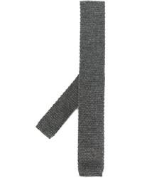 Мужской темно-серый шерстяной галстук от Eleventy