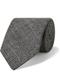 Мужской темно-серый шерстяной галстук от Oliver Spencer
