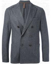 Мужской темно-серый шерстяной двубортный пиджак от Eleventy
