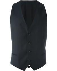 Мужской темно-серый шерстяной жилет от Armani Collezioni