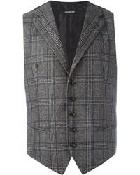 Мужской темно-серый шерстяной жилет от Tagliatore