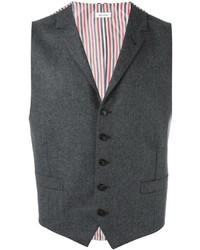 Мужской темно-серый шерстяной жилет от Thom Browne
