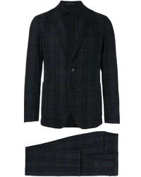 Мужской темно-серый шерстяной костюм в шотландскую клетку от Tagliatore