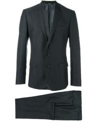 Мужской темно-серый шерстяной костюм от Dolce & Gabbana