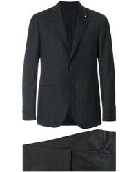 Темно-серый шерстяной костюм от Lardini