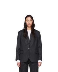 Женский темно-серый шерстяной пиджак в вертикальную полоску от Isabel Marant