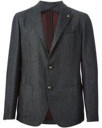 Темно-серый шерстяной пиджак