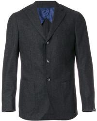 Мужской темно-серый шерстяной пиджак от Barba