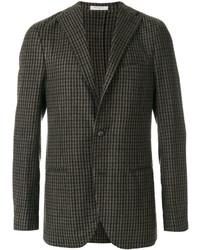 Мужской темно-серый шерстяной пиджак от Boglioli