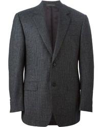 Мужской темно-серый шерстяной пиджак от Canali