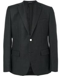 Мужской темно-серый шерстяной пиджак от Caruso