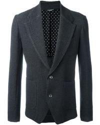 Мужской темно-серый шерстяной пиджак от Dolce & Gabbana
