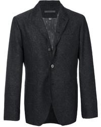 Мужской темно-серый шерстяной пиджак от John Varvatos