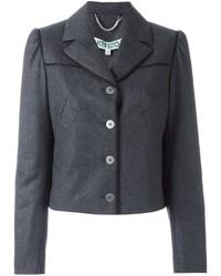 Женский темно-серый шерстяной пиджак от Kenzo
