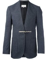 Мужской темно-серый шерстяной пиджак от Maison Margiela