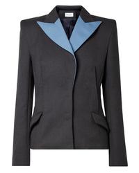 Женский темно-серый шерстяной пиджак от Mugler